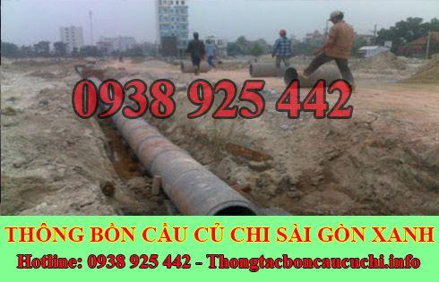 Thi Công Đào Lắp Đặt Đường Cống Thoát Nước Huyện Củ Chi Sài Gòn Xanh