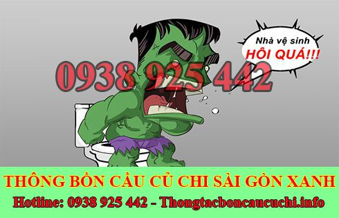 Xử lý mùi hôi bồn cầu toilet nhà vệ sinh Huyện Củ Chi Sài Gòn Xanh.