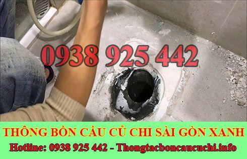 dịch vụ thông tắc bồn cầu nhà vệ sinh của công ty Sài Gòn Xanh